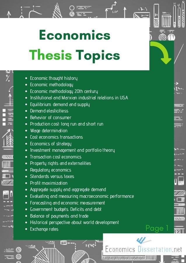dissertation topics on development economics