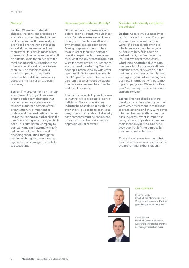 Topics Risk Solutions Issue 12016