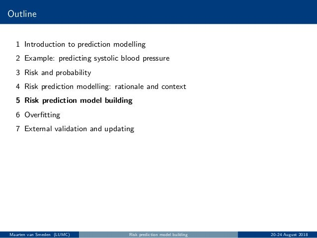 Introduction to prediction modelling - Berlin 2018 - Part II Slide 2