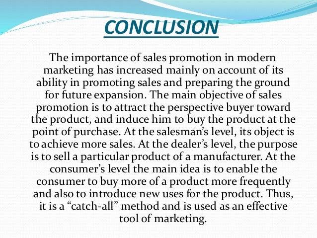 sales promotion essay
