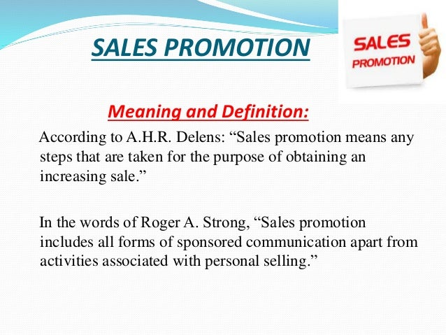 Topic sales promotion sales promotion mix kinds of promotion