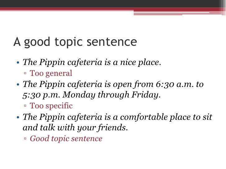Topic Sentences