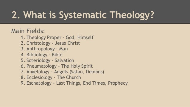 christology and theology proper As a professor of systematic theology at fuller seminary, he offers differing perspectives in christology, pneumatology, and theology proper with an eye to the past that never lacks an awareness of the shape of christianity as a global faith.