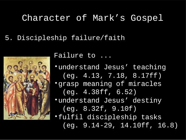 understanding the gospel of mark The gospel according to mark this shortest of all new testament gospels is likely the first to have been written, yet it often tells of jesus' ministry in more detail than either matthew or luke (for example, the miracle stories at mk 5:1–20 or mk 9:14–29.