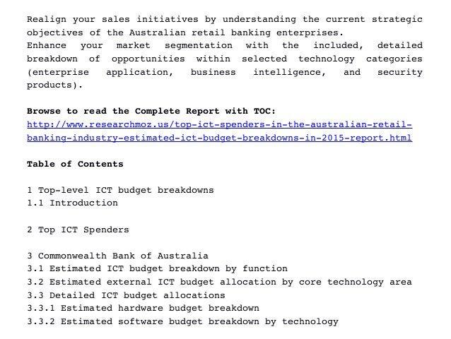 Realignyoursalesinitiativesbyunderstandingthecurrentstrategic objectivesoftheAustralianretailbankingenterpri...