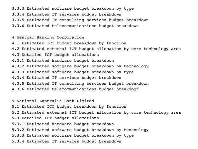 3.3.3Estimatedsoftwarebudgetbreakdownbytype 3.3.4EstimatedITservicesbudgetbreakdown 3.3.5EstimatedITconsulti...