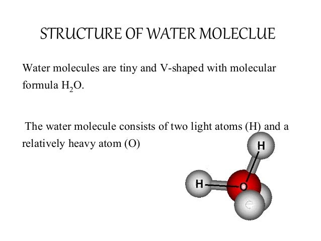 Topic Water Molecule