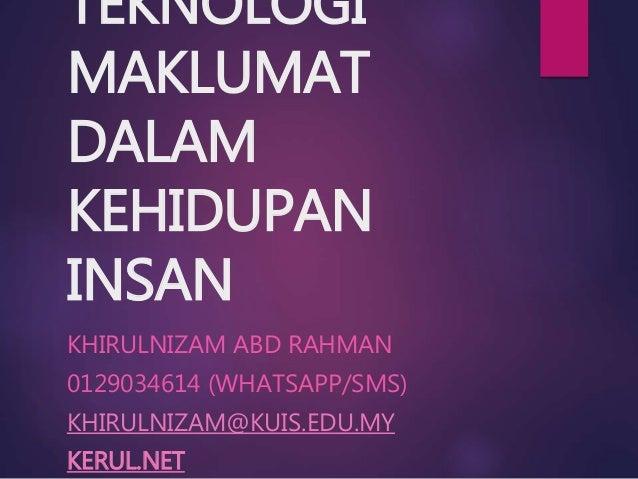 Topik 1 Islam dan Teknologi Maklumat