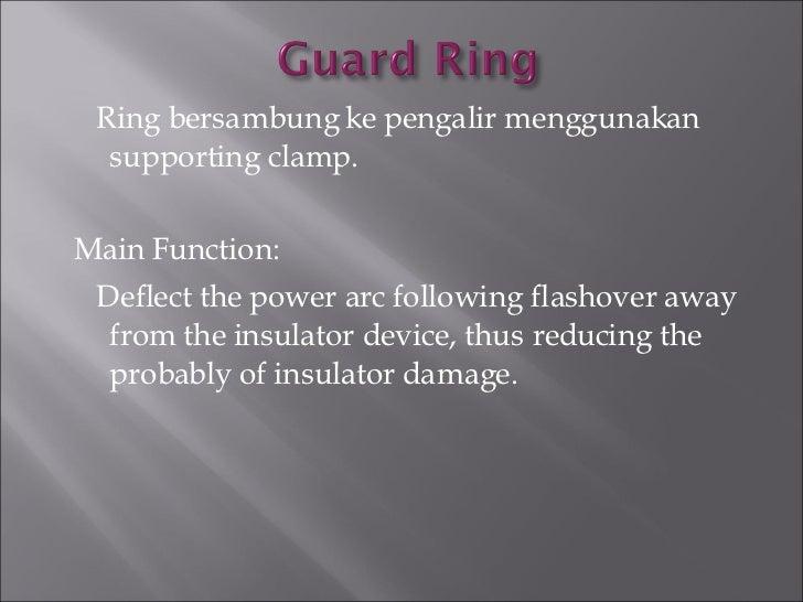 <ul><li>Ring bersambung ke pengalir menggunakan supporting clamp. </li></ul><ul><li>Main Function:  </li></ul><ul><li>Defl...