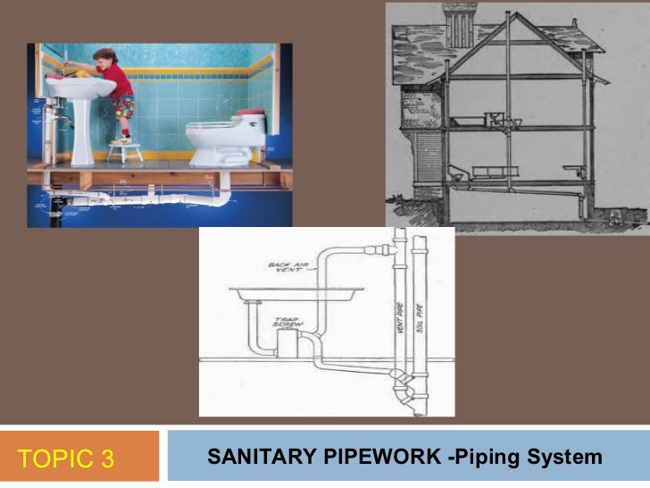 TOPIC 3   SANITARY PIPEWORK -Piping System