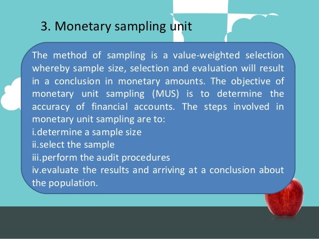Topik 8 Audit Sampling