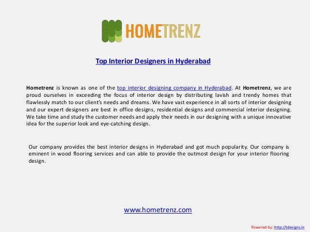 2 Hometrenz Is Known As One Of The Top Interior Designing Company In Hyderabad