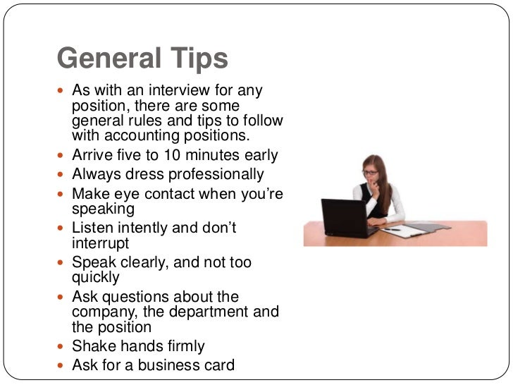 Top Interview Tips For Accounting Jobs .  Interview Tips