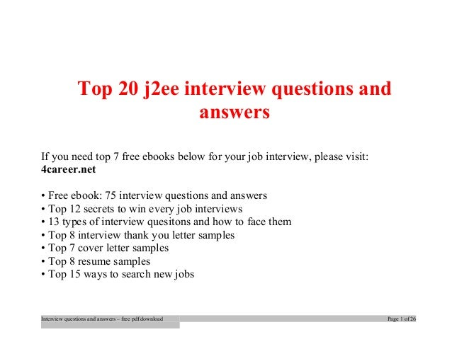 Questions pdf experienced for and interview answers j2ee