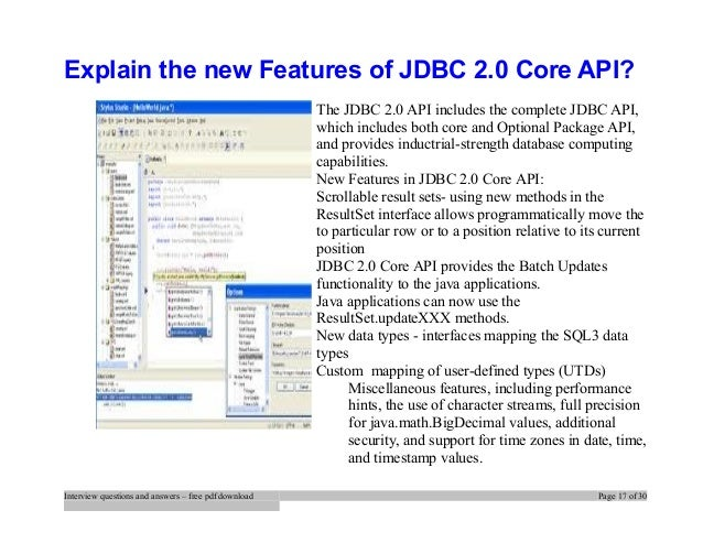 jdbc api tutorial and reference pdf