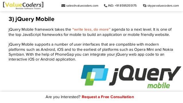Top Java Script Frameworks For Mobile App Development