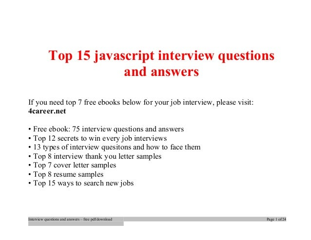 Knockout Js Interview Questions And Answers Pdf
