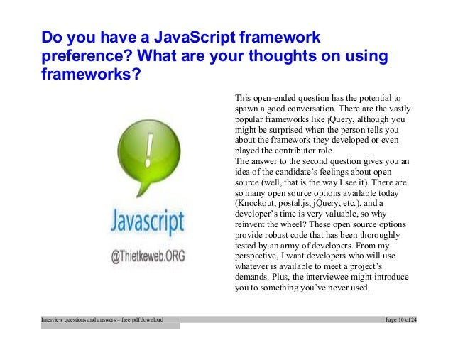 Javascript Interview Questions Pdf