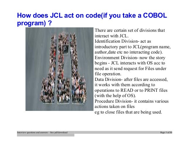 Cobol Interview Questions And Answers Pdf