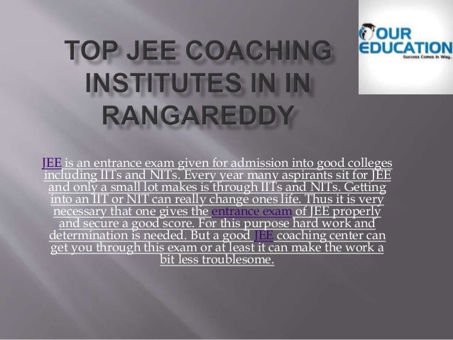 JEE is an entrance exam given for admission into good colleges including IITs and NITs. Every year many aspirants sit for ...