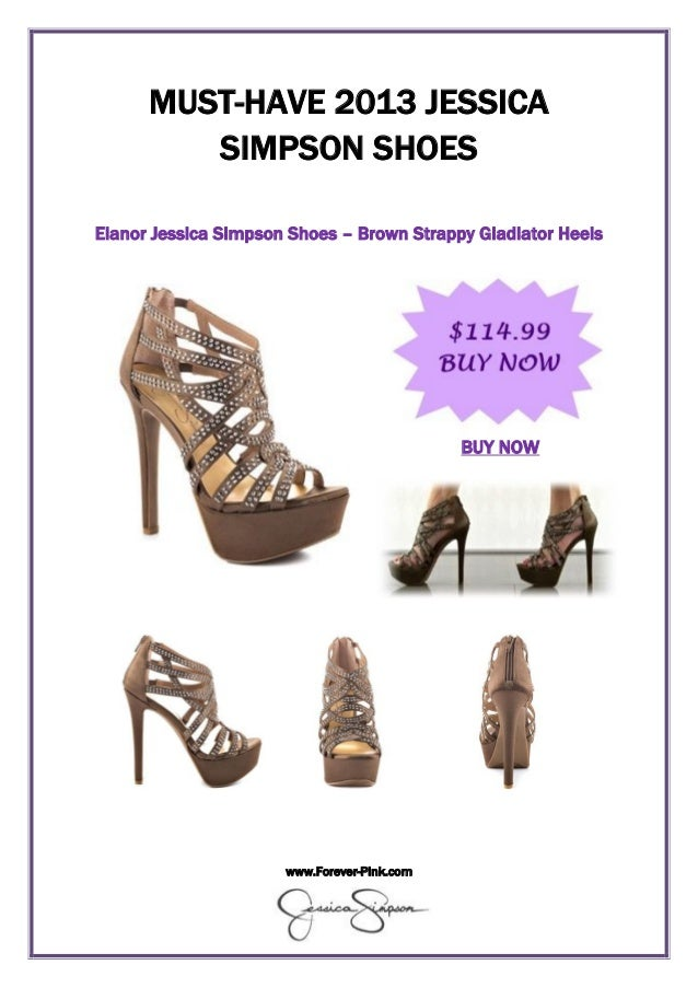 www.Forever-Pink.com MUST-HAVE 2013 JESSICA SIMPSON SHOES Elanor Jessica Simpson Shoes – Brown Strappy Gladiator Heels BUY...