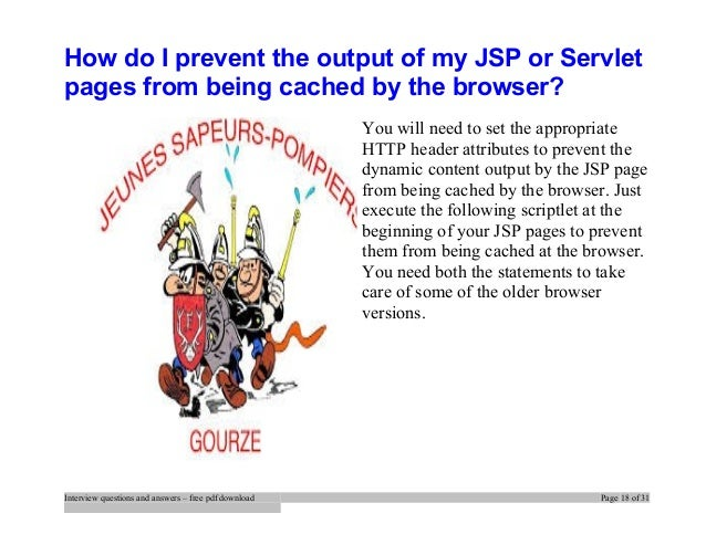 Jsp Interview Questions And Answers For Experienced Pdf