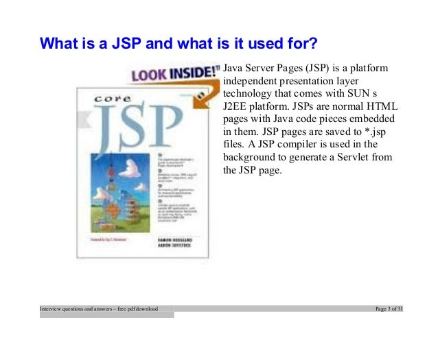 Answers pdf servlet and interview questions jsp