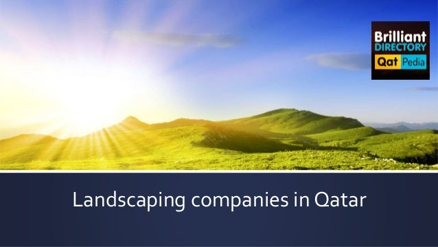 - Top Landscaping Companies In Qatar