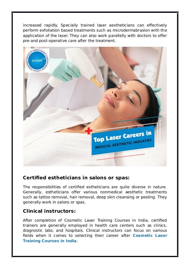 Top Laser Careers in the Medical Aesthetic Industry