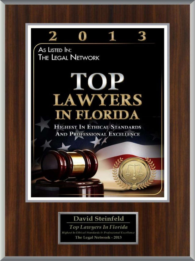 David Steinfeld named one of the top lawyers in Florida for 2013