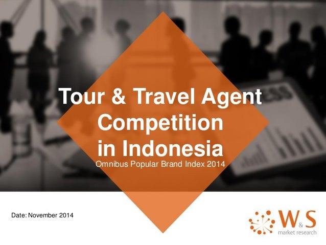 Tour & Travel Agent Competition in IndonesiaOmnibus Popular Brand Index 2014 Date: November 2014