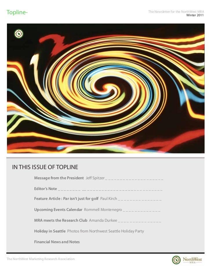 Topline-                                                                                   The Newsletter for the NorthWes...