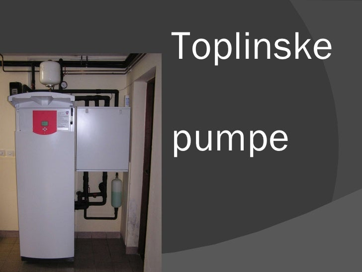 Toplinske  pumpe