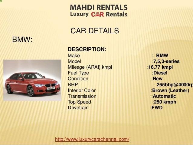 Top Luxury Car Rentals In Bangalore