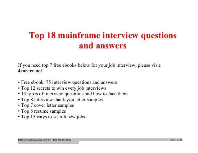 Download 47 JCL Interview Questions and Answers PDF