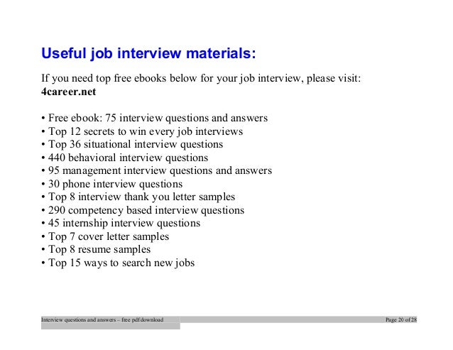 interview questions and answers free pdf download page 19 of 28 20 - Phone Interview Tips For Phone Interviews