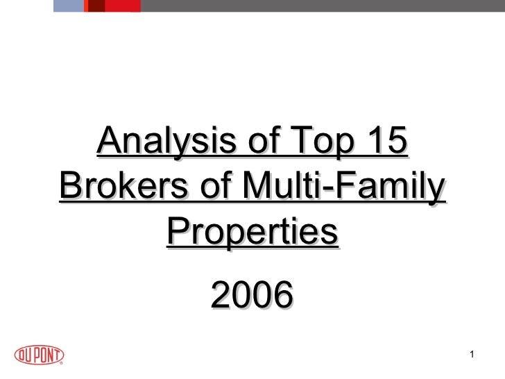 <ul><li>Analysis of Top 15 Brokers of Multi-Family Properties </li></ul><ul><li>2006 </li></ul>