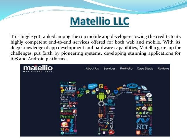 Top Mobile App Development Companies 2017