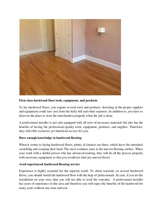 Topmost Reasons To Hire A Pro For Hardwood Floor Installation In Colo