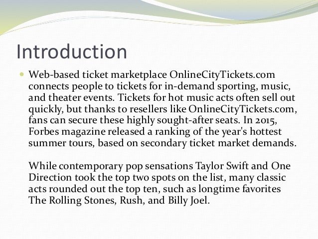 Top Music Tours According to the Resale Market Slide 2
