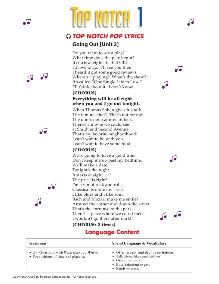 TOP NOTCH 1                                         TOP NOTCH POP LYRICS                                          Going O...