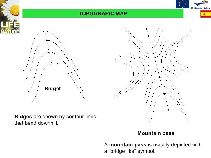 Topographic Map Of A Mountain.Topographic Map