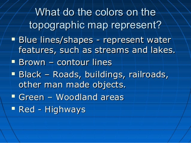 Meaning Of Topographic Map.Topographic Maps