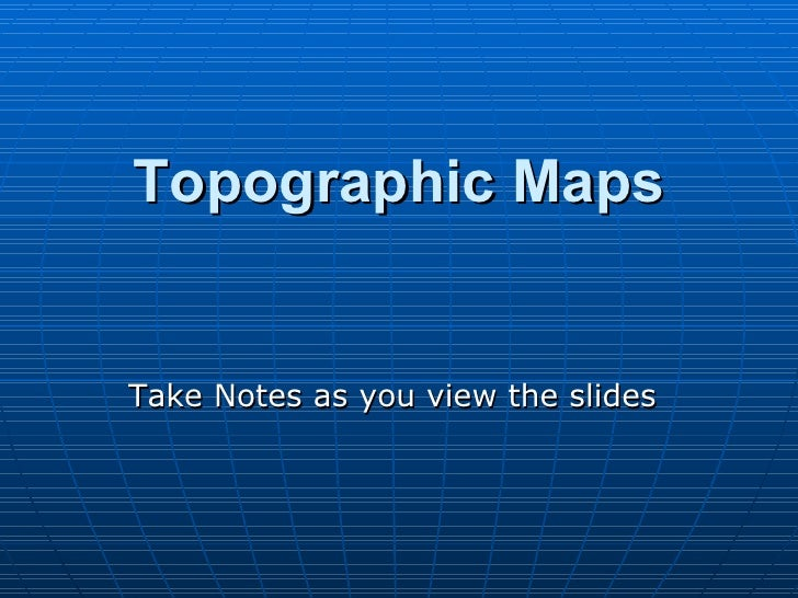 topographic maps presentation mine
