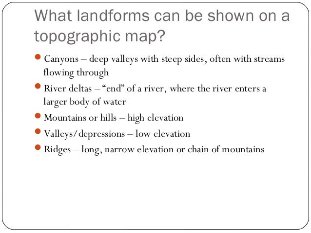 topography powerpoint