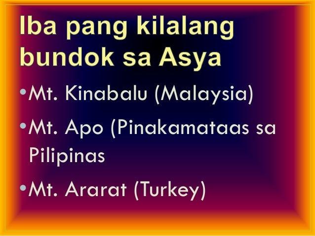 •Bulkang Mayon ng Pilipinas – pinakamagandang bulkan dahil sa hugis kono nito.•Bulkang Taal – pinakamaliit na bulkan sa da...