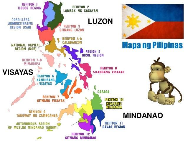 Mapa ng Pilipinas LUZON VISAYAS MINDANAO