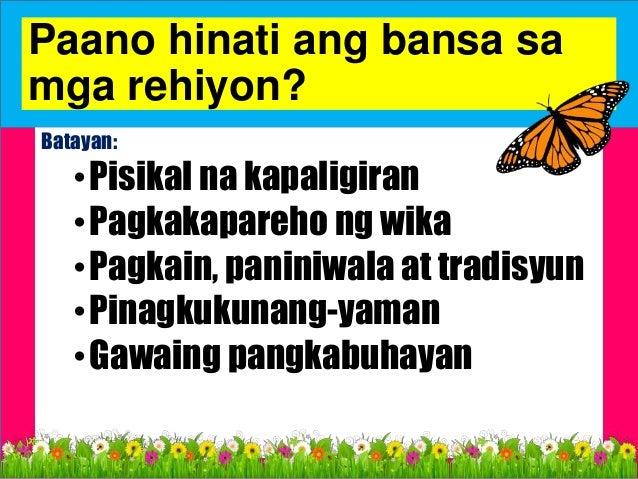 CALABARZON - (Cavite, Laguna, Batangas, Rizal at Quezon) MIMAROPA - (Mindoro, Marinduque, Romblon at Palawan) LUZON ILAN A...
