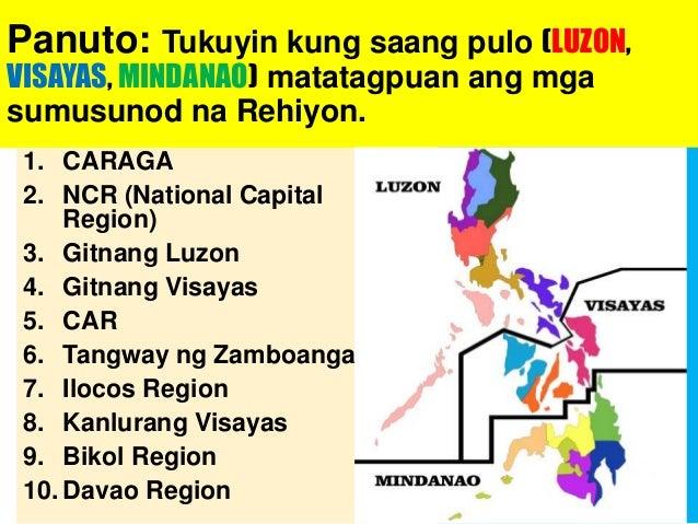 """Itanong sa mga miyembro ng iyong pamilya: """"Kung kayo ay papipiliin, saang rehiyon ninyo nais manirahan? Bakit? Isulat ang ..."""
