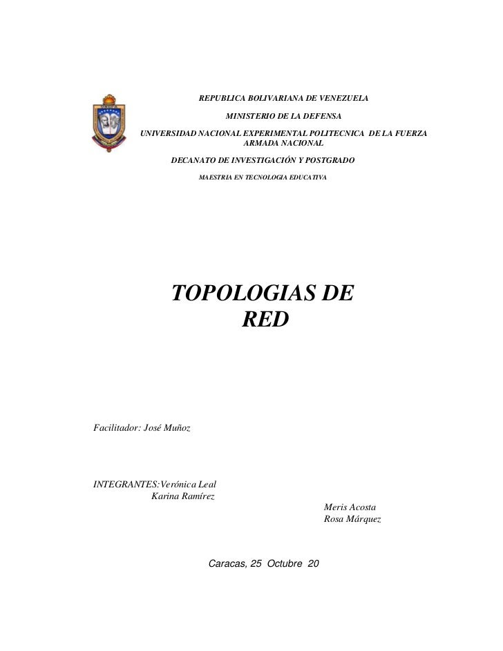 REPUBLICA BOLIVARIANA DE VENEZUELA                                MINISTERIO DE LA DEFENSA           UNIVERSIDAD NACIONAL ...